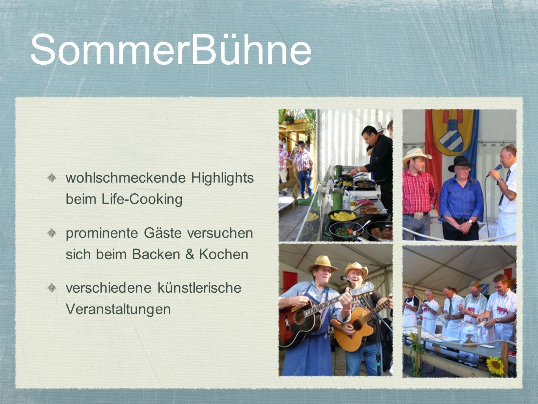 SommerBühne wohlschmeckende Highlights beim Life-Cooking
