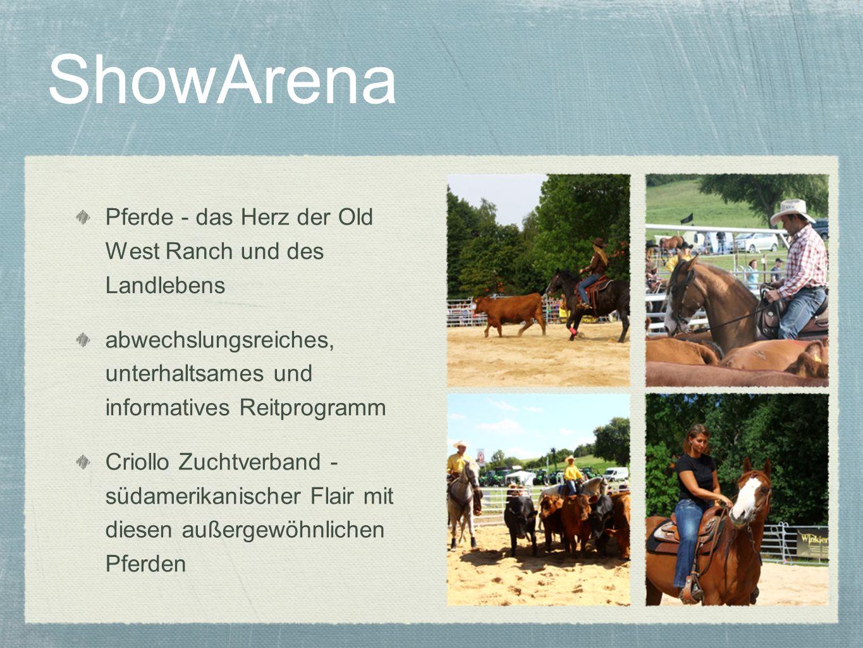 ShowArena Pferde - das Herz der Old West Ranch und des Landlebens
