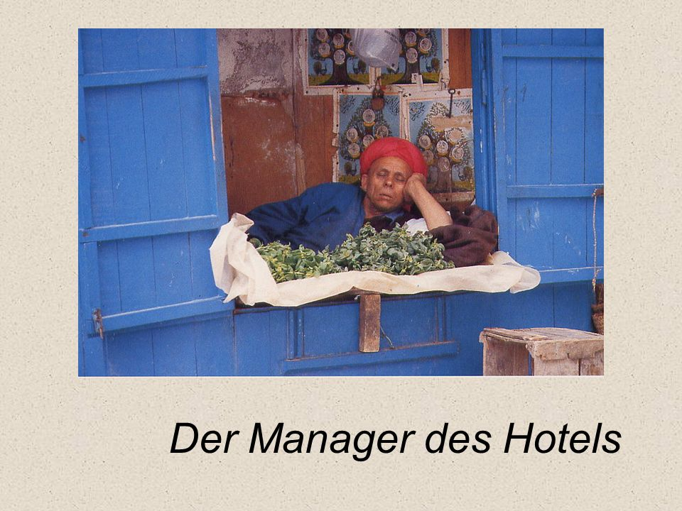 Der Manager des Hotels