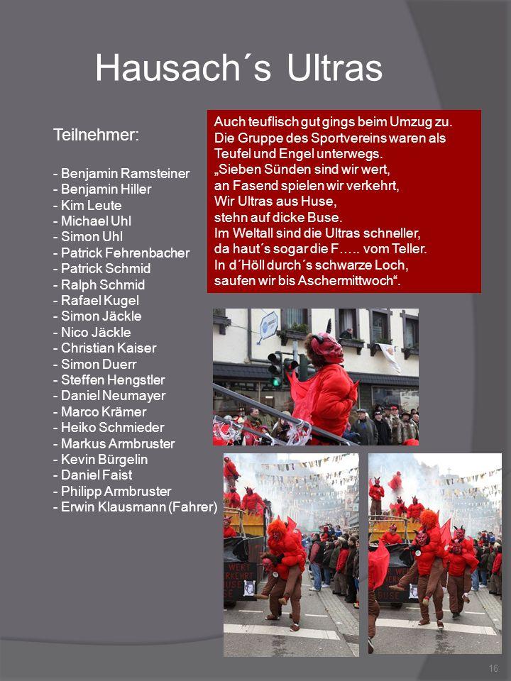 Hausach´s Ultras Teilnehmer: