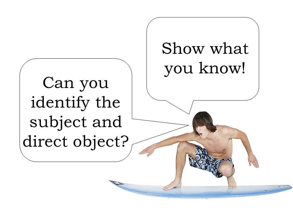 Can you identify the subject and direct object