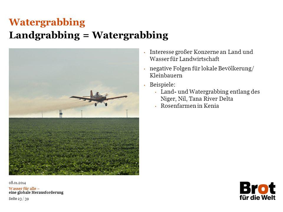 Landgrabbing = Watergrabbing