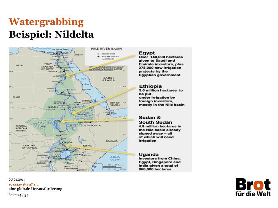 Watergrabbing Beispiel: Nildelta 24