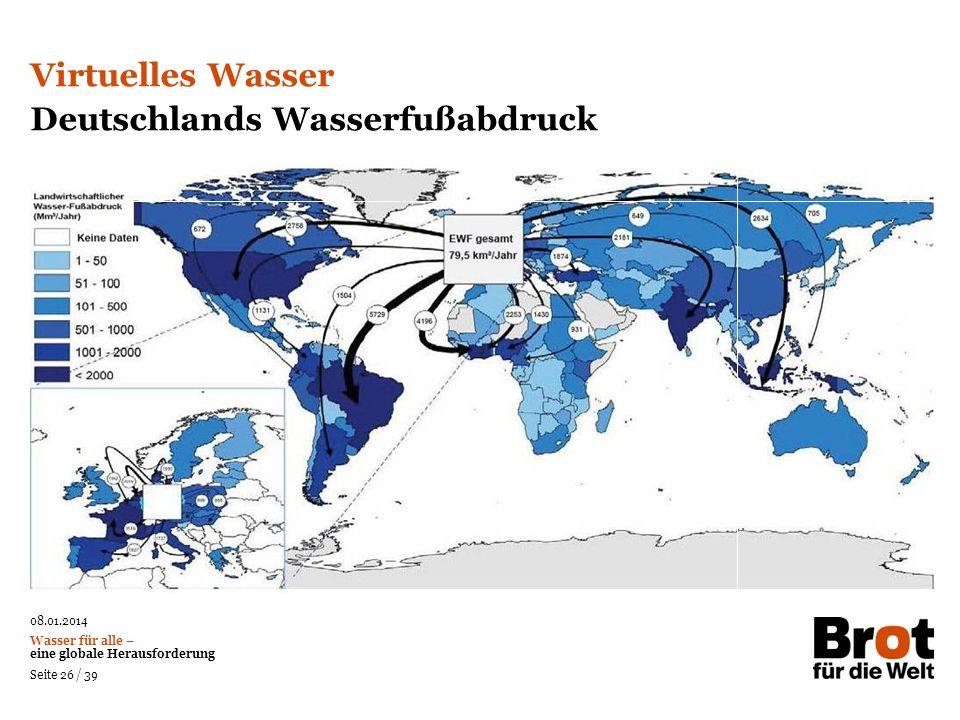 Deutschlands Wasserfußabdruck