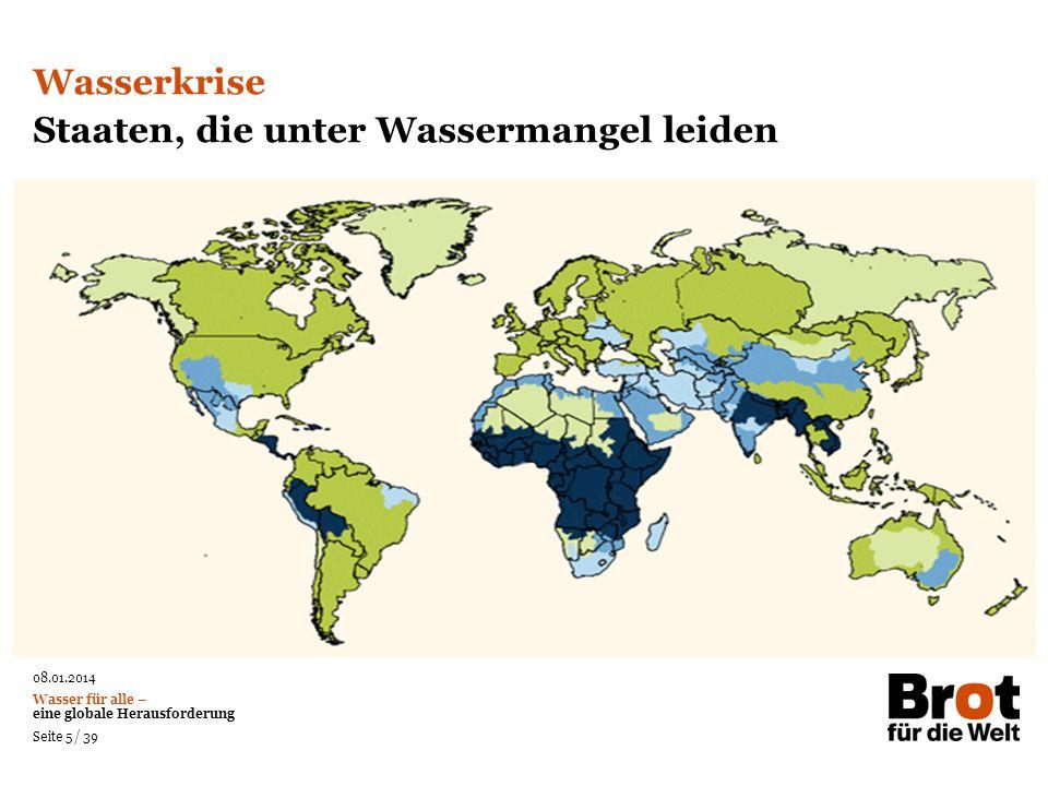 Staaten, die unter Wassermangel leiden