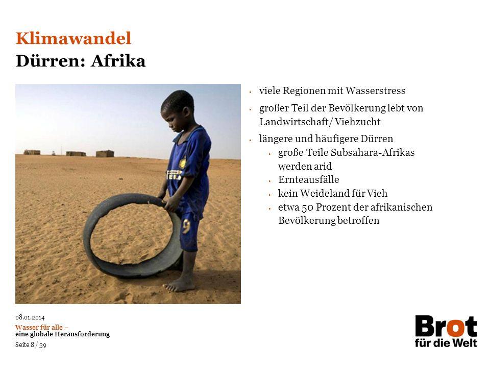 Klimawandel Dürren: Afrika viele Regionen mit Wasserstress