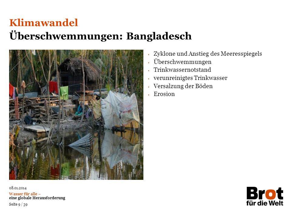 Überschwemmungen: Bangladesch