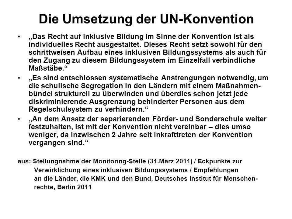 Die Umsetzung der UN-Konvention