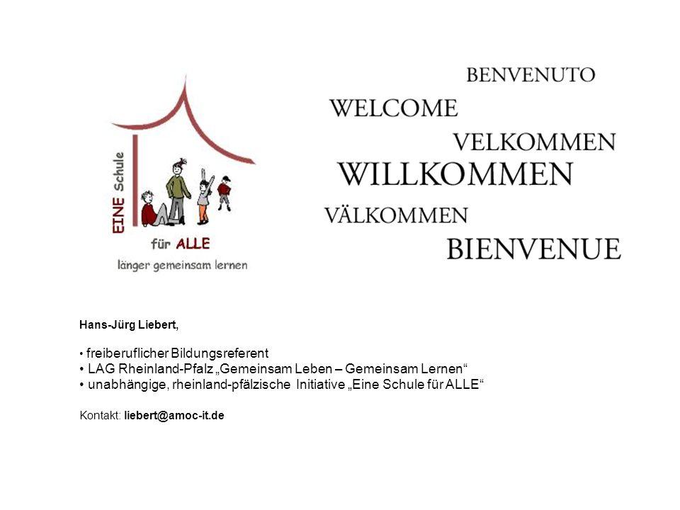 """LAG Rheinland-Pfalz """"Gemeinsam Leben – Gemeinsam Lernen"""