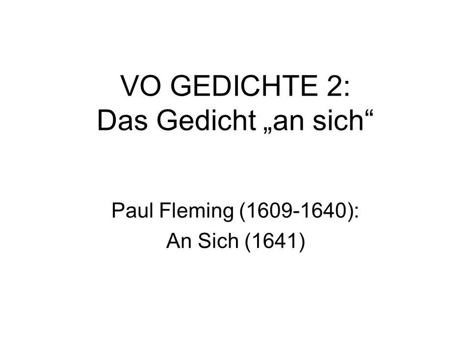 "VO GEDICHTE 2: Das Gedicht ""an sich"