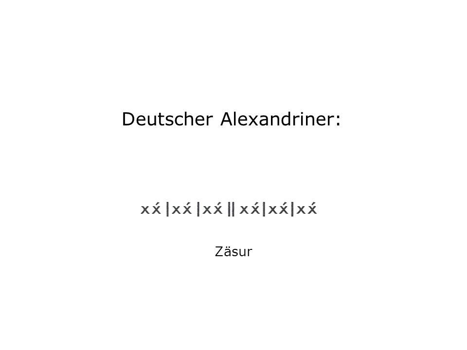 Deutscher Alexandriner:
