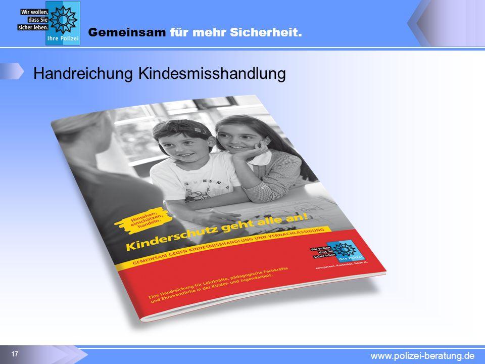Handreichung Kindesmisshandlung