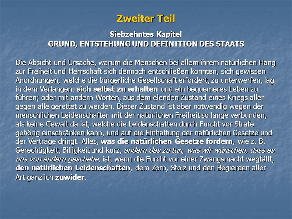 GRUND, ENTSTEHUNG UND DEFINITION DES STAATS