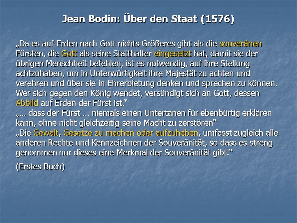 Jean Bodin: Über den Staat (1576)