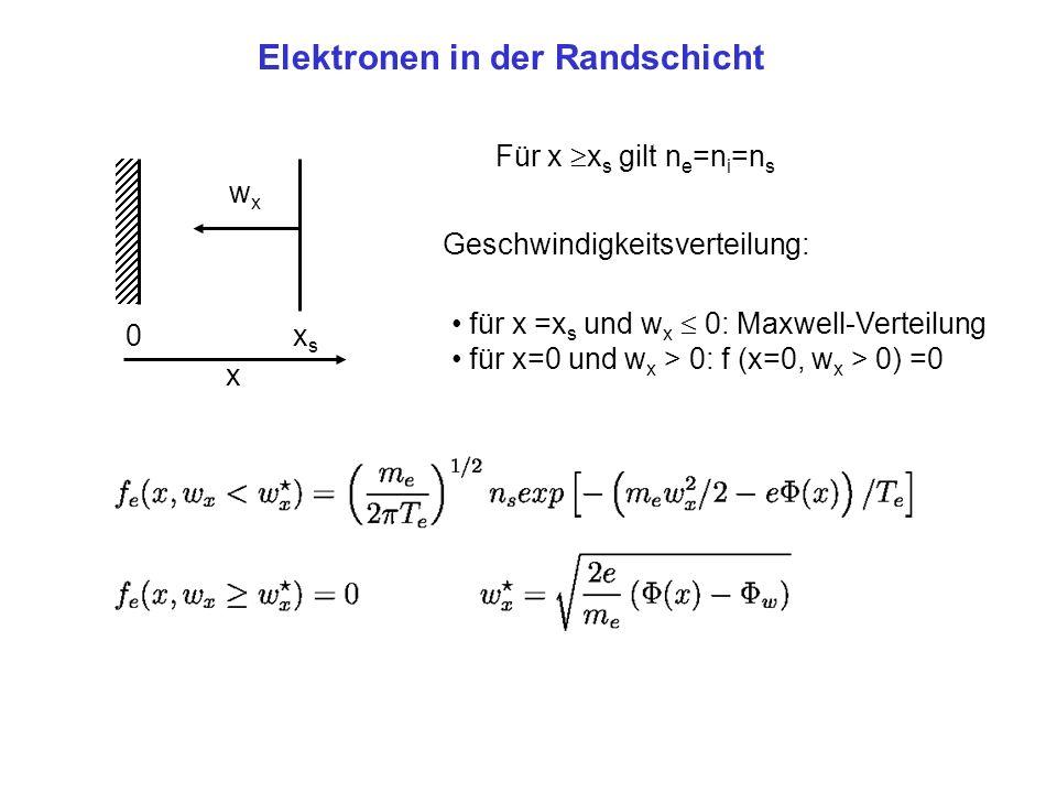 Elektronen in der Randschicht