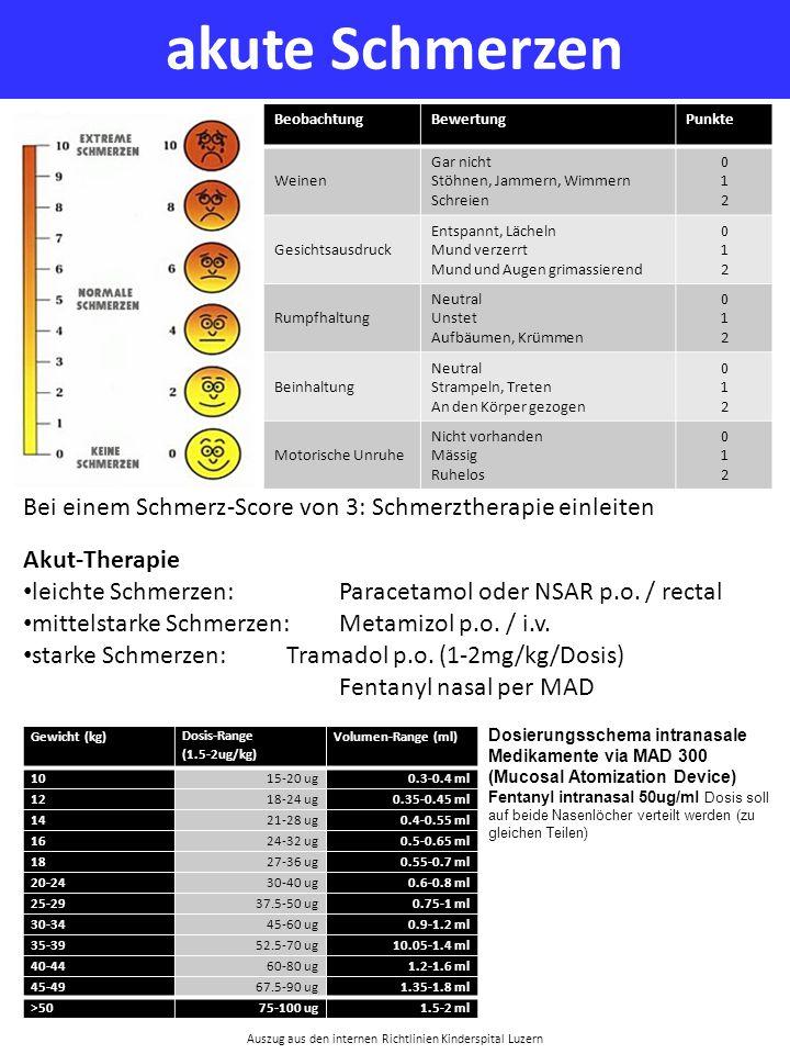 Auszug aus den internen Richtlinien Kinderspital Luzern