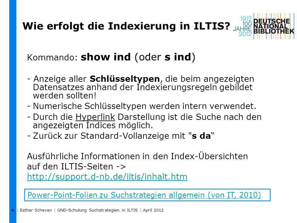 Wie erfolgt die Indexierung in ILTIS