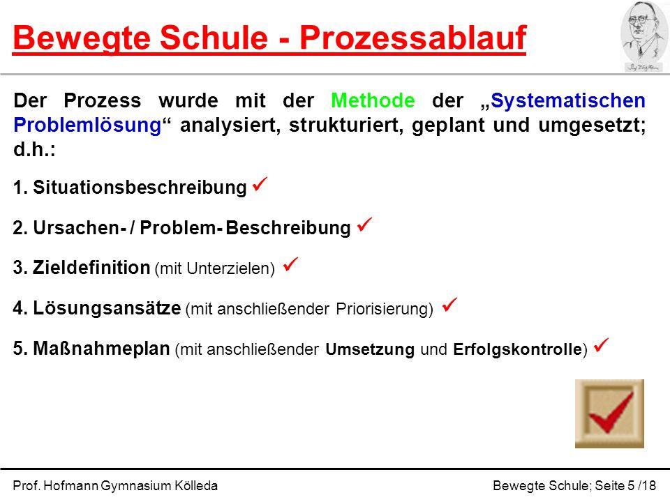 Bewegte Schule - Prozessablauf