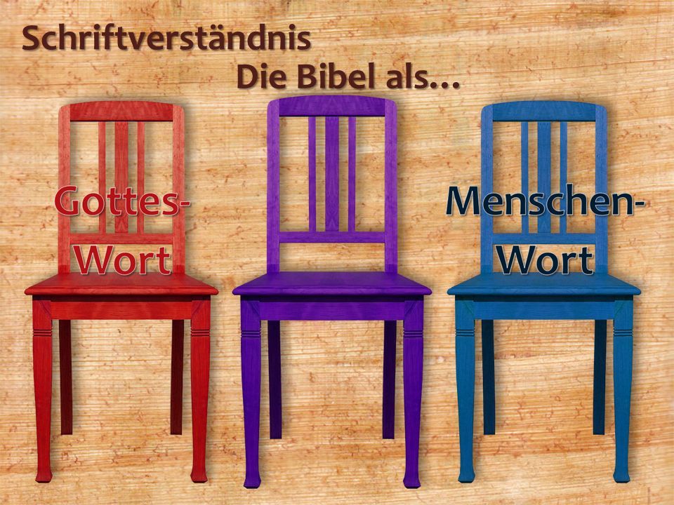 Schriftverständnis Die Bibel als…