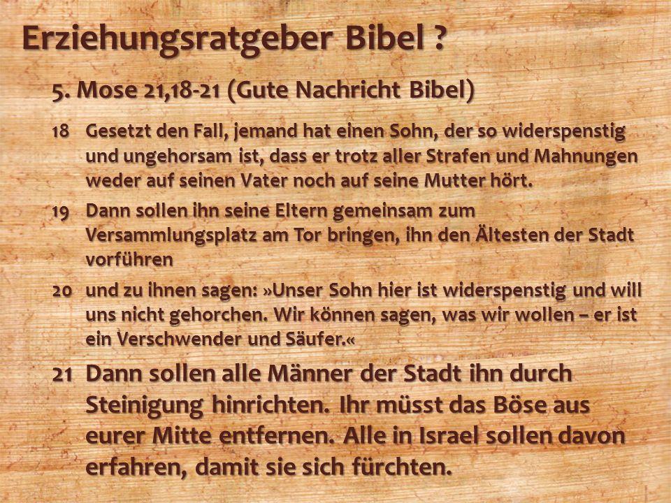 Erziehungsratgeber Bibel