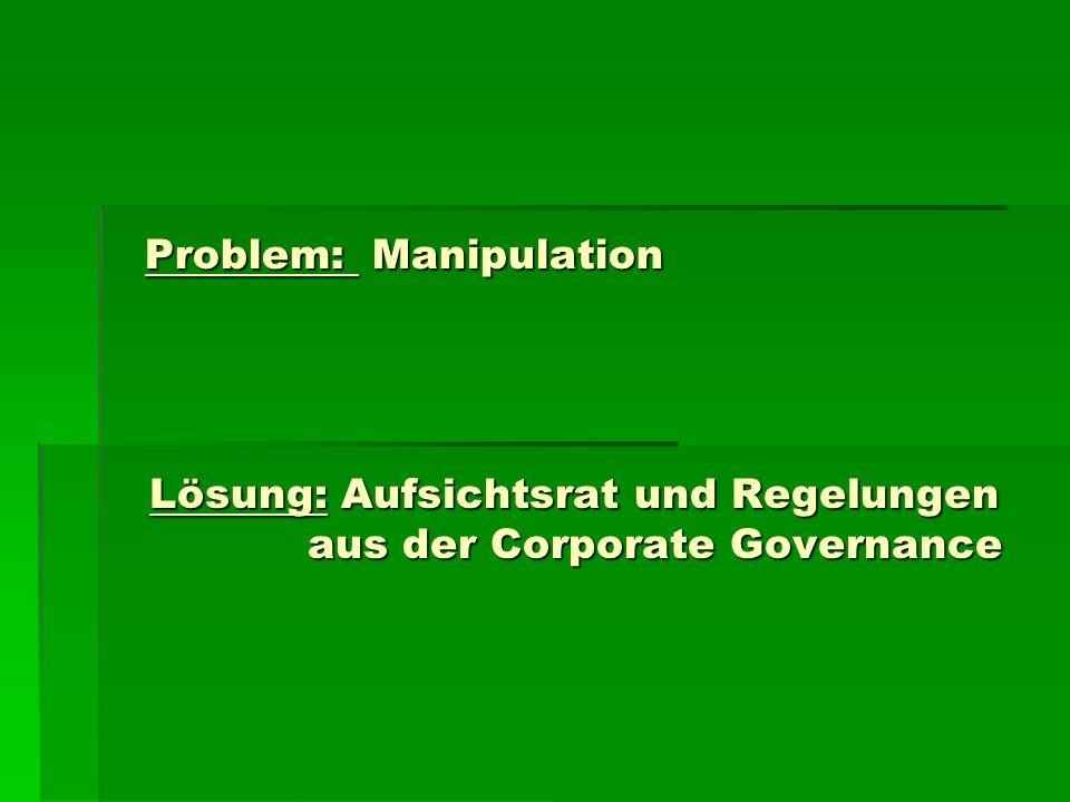 Problem: Manipulation