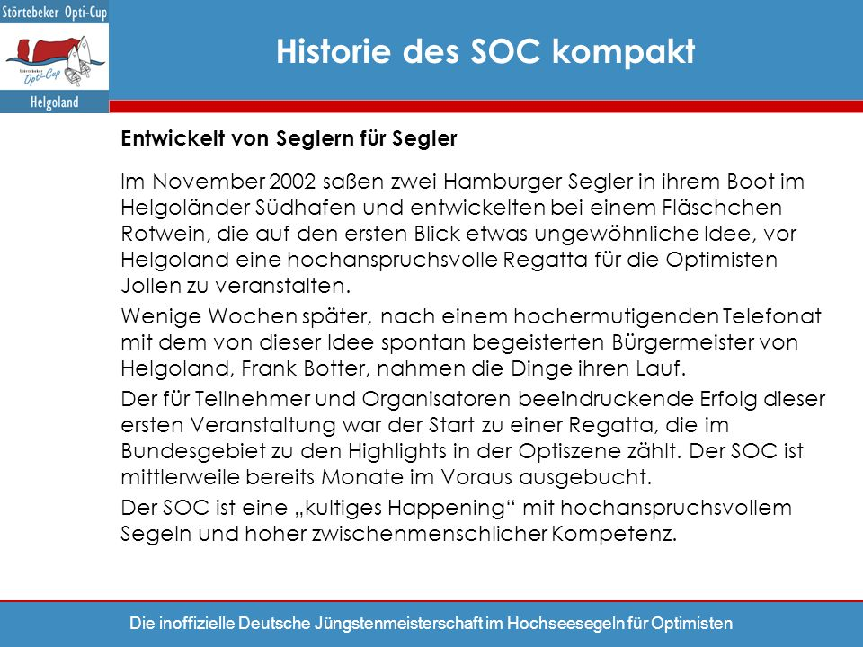 Historie des SOC kompakt