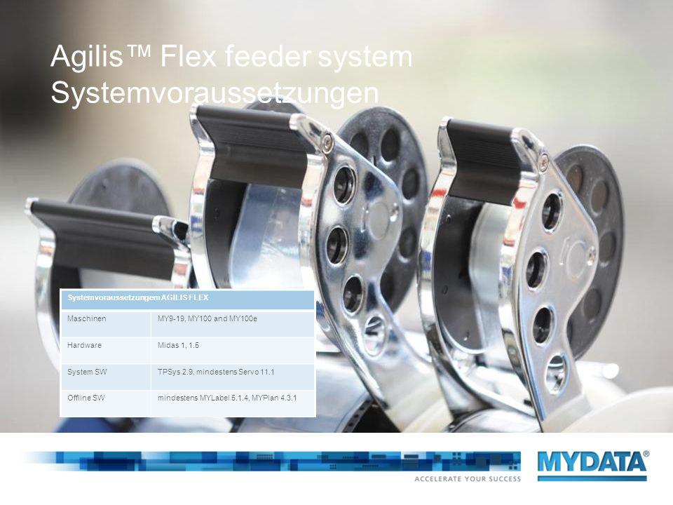 Agilis™ Flex feeder system Systemvoraussetzungen