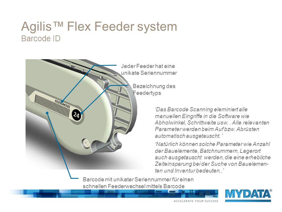 Agilis™ Flex Feeder system Barcode ID