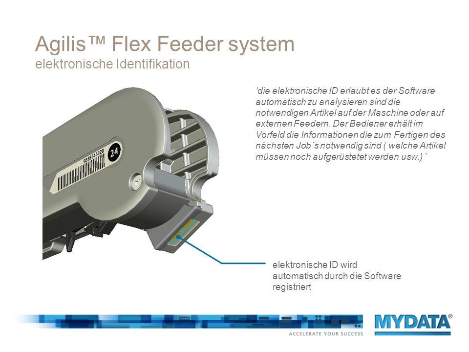 Agilis™ Flex Feeder system elektronische Identifikation