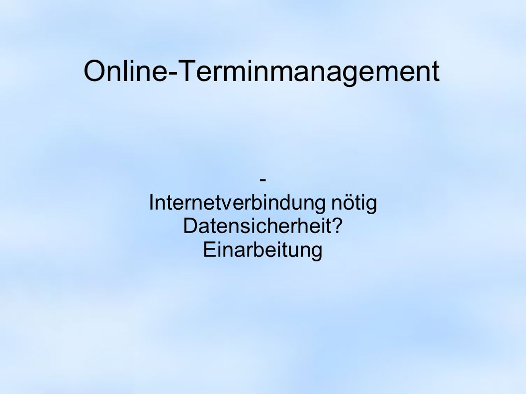 Online-Terminmanagement