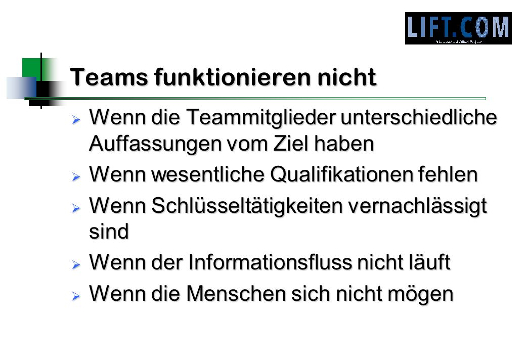 Teams funktionieren nicht
