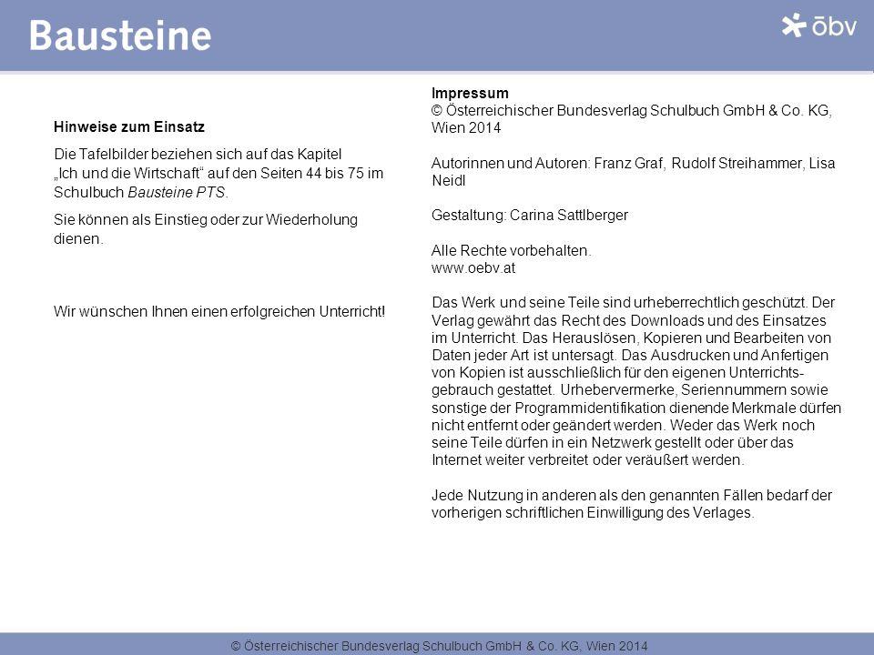 Impressum. © Österreichischer Bundesverlag Schulbuch GmbH & Co. KG, Wien 2014. Autorinnen und Autoren: Franz Graf, Rudolf Streihammer, Lisa Neidl.