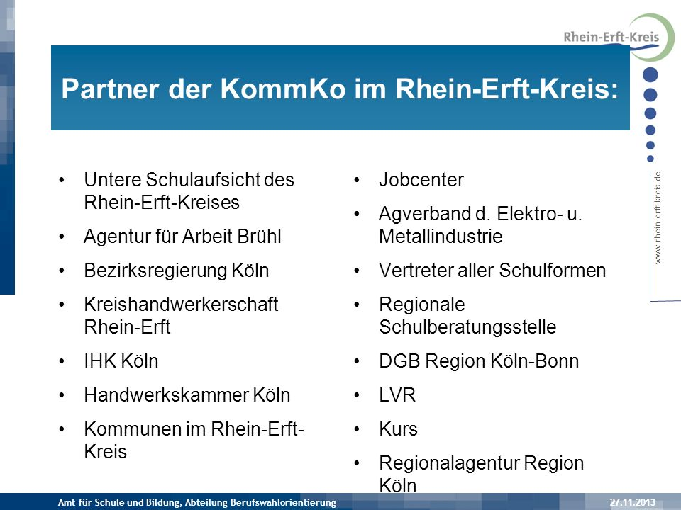 Partner der KommKo im Rhein-Erft-Kreis: