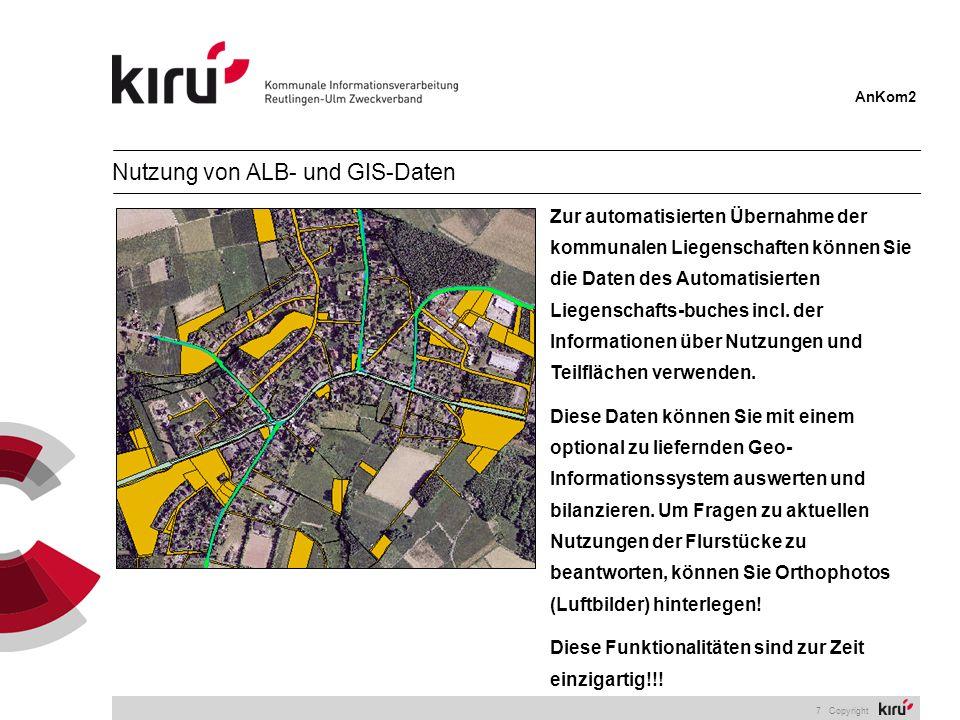 Nutzung von ALB- und GIS-Daten
