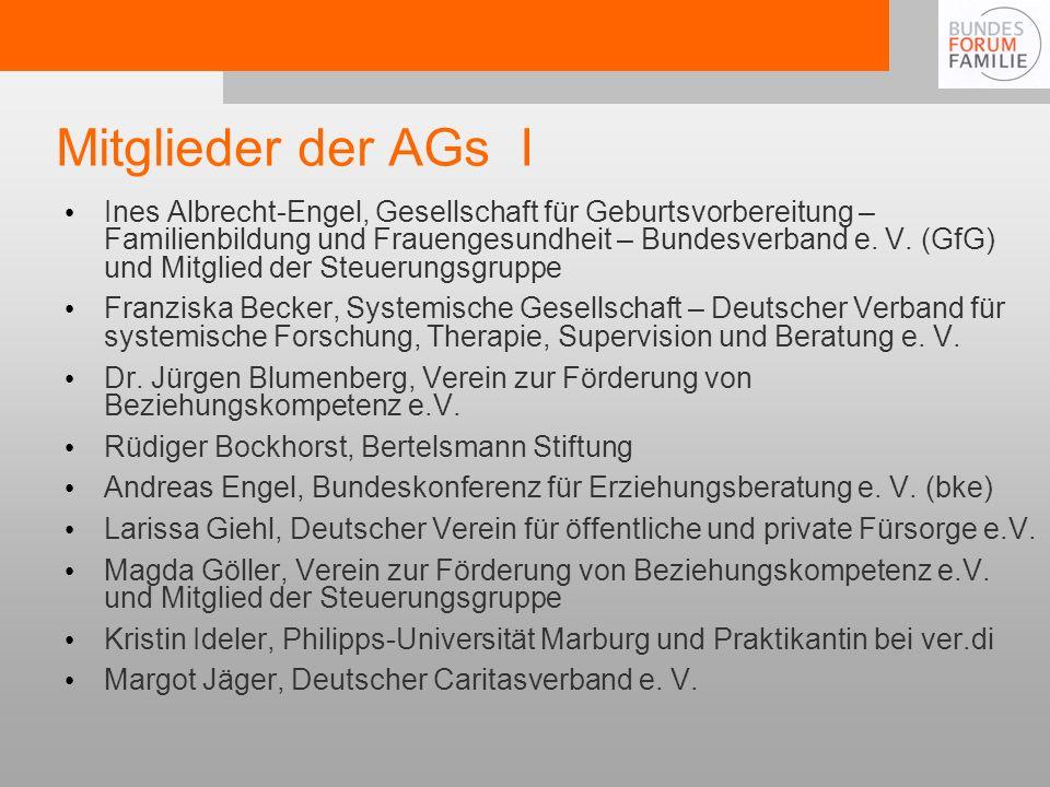 Mitglieder der AGs I