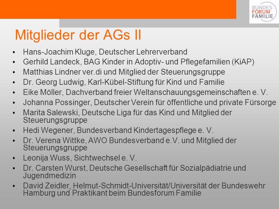 Mitglieder der AGs II Hans-Joachim Kluge, Deutscher Lehrerverband