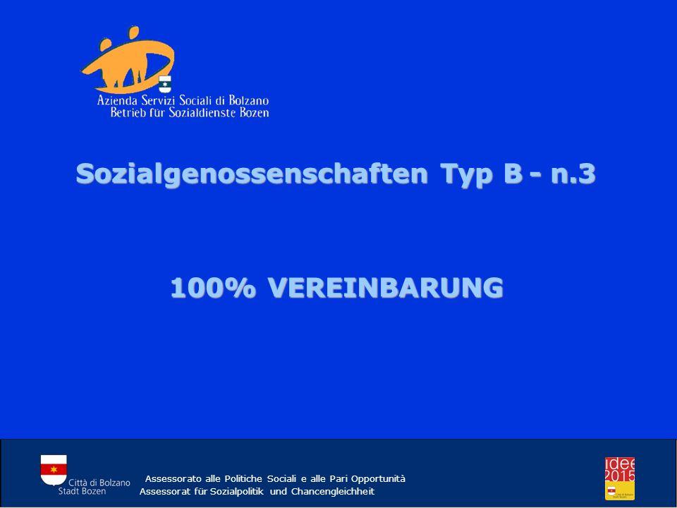 Sozialgenossenschaften Typ B - n.3
