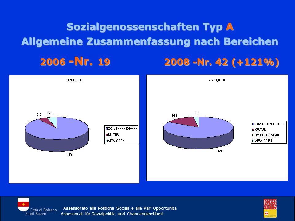 Sozialgenossenschaften Typ A Allgemeine Zusammenfassung nach Bereichen