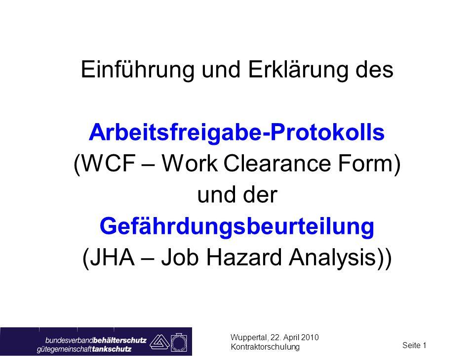 Arbeitsfreigabe-Protokolls Gefährdungsbeurteilung
