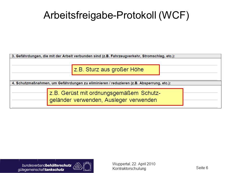 Arbeitsfreigabe-Protokoll (WCF)