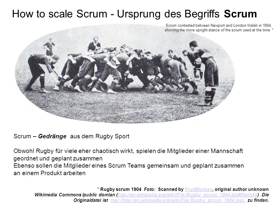 How to scale Scrum - Ursprung des Begriffs Scrum