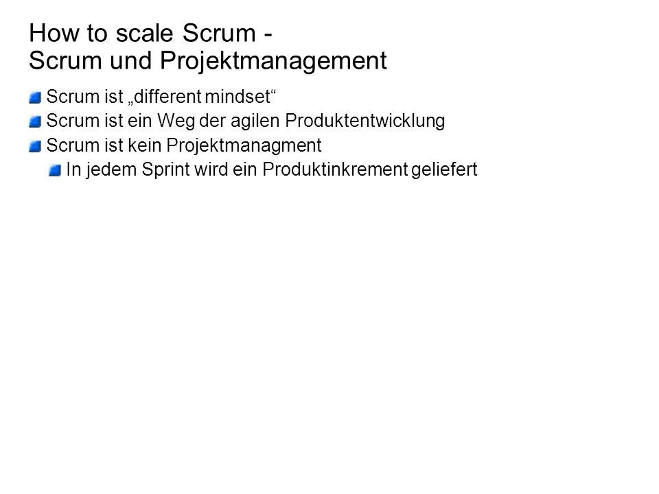 How to scale Scrum - Scrum und Projektmanagement