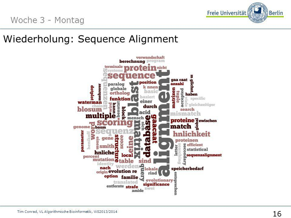 Wiederholung: Sequence Alignment