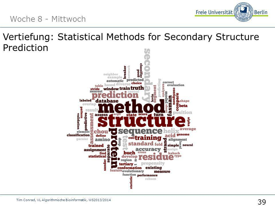 Vertiefung: Statistical Methods for Secondary Structure Prediction