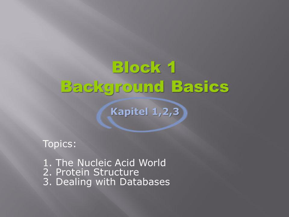 Block 1 Background Basics
