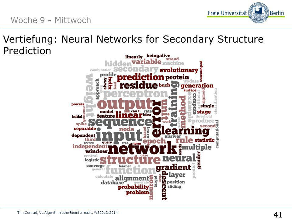 Vertiefung: Neural Networks for Secondary Structure Prediction