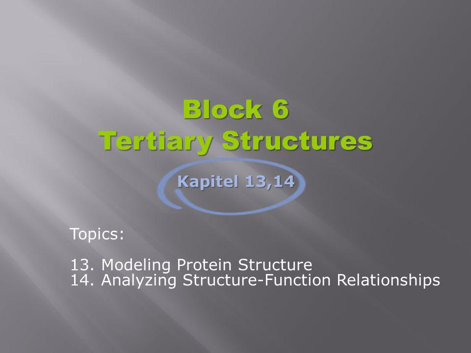 Block 6 Tertiary Structures