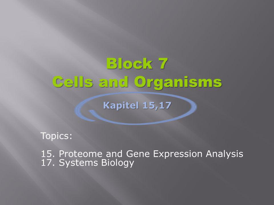 Block 7 Cells and Organisms
