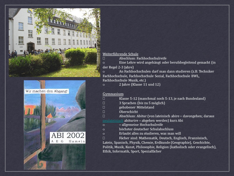 Gymnasium Weiterführende Schule • Abschluss: Fachhochschulreife