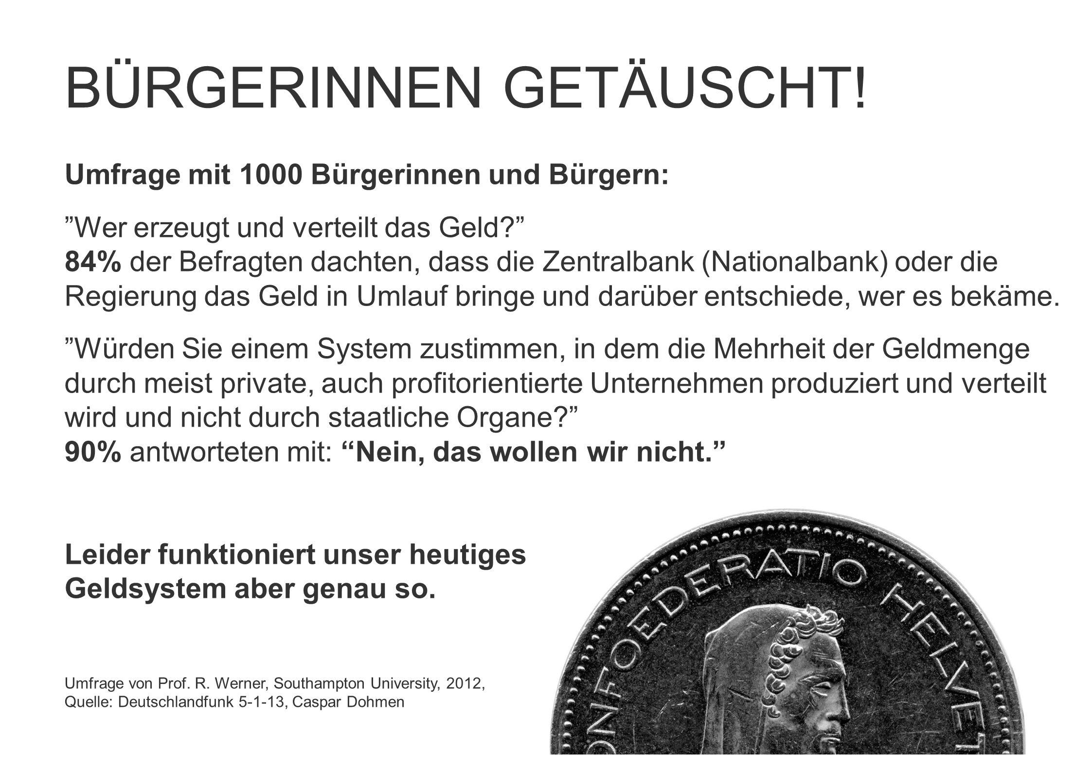 BÜRGERINNEN GETÄUSCHT!